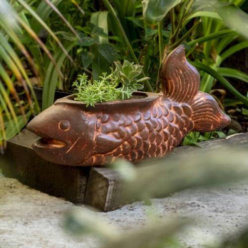 Mitienda Shop Blumentopf Aus Ton Fisch Lang ton