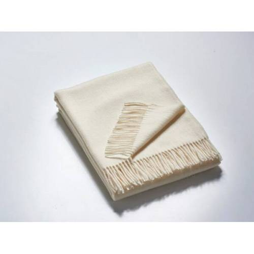 Kaipara - Merino Sportswear Das Plaid - Merino-decke 140 Cm x 190 Cm (850g) weiß