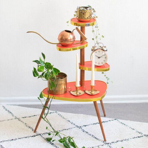 Mighty Home Blumentisch Im 60er Jahre Design rot