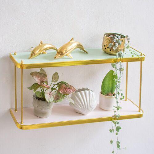 Mighty Home Regal Für Pflanzen Im 60er Jahre Design pastellrosa / mintgrün
