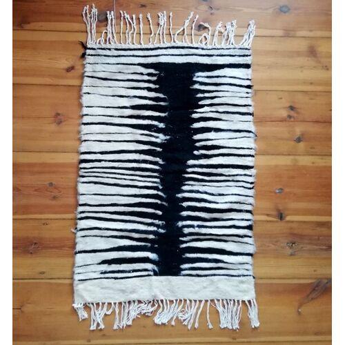 """LaMalve Handgewebter Kelim Berber Teppich Mit Wolle Und Ziegenhaar """"Zebra"""" zebra"""