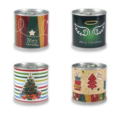 MacFlowers Weihnachtsbaum Set - Nostalgie - 4x Weihnachtsbaum Gemischt Von Macflowers