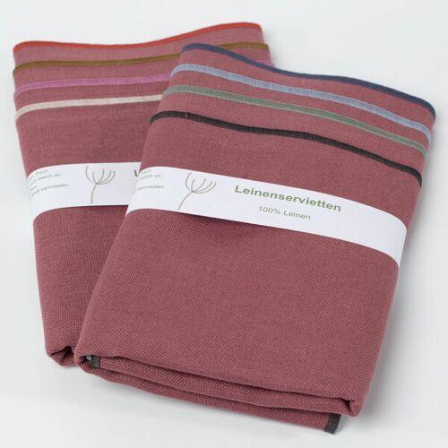 nahtur-design Leinenservietten 8er Set, 100% Leinen rosa