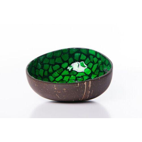 Bea Mely Perlmutt-kokosnuss-schale grün