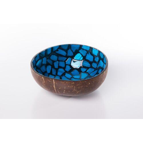 Bea Mely Perlmutt-kokosnuss-schale blau