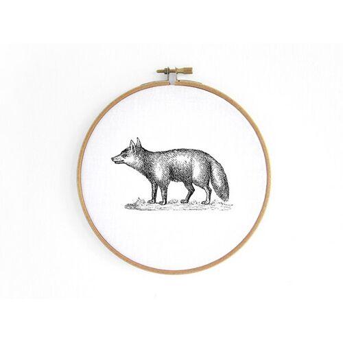 renna deluxe Fuchs Im Stickrahmen