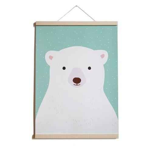 TELL ME Poster Eisbär Aus Recyclingpapier A2
