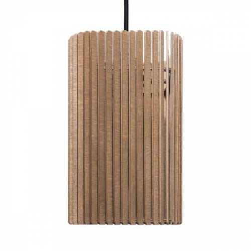 farbflut Design Columna - Holzlampe cognac