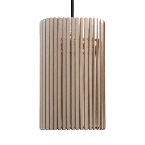 farbflut Design Columna - Holzlampe taupe