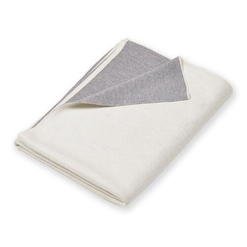 Lenz & Life Doubleface Decke weiß/grau