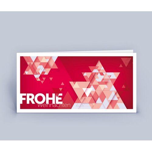 Eco-Cards Weihnachtskarten Din Lang Mit Originellem Stern Im 10ér Set rot