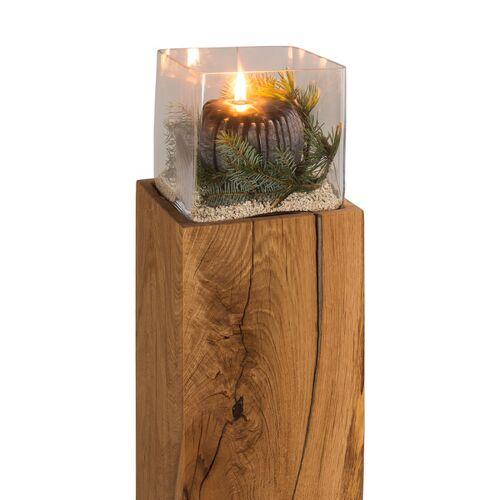 GreenHaus Windlicht 20x20cm Von Greenhaus® Bodenwindlicht Laterne Kerzenständer  25x25x70 cm