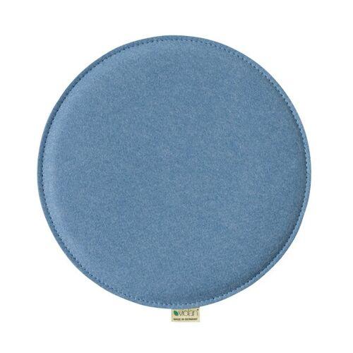 Metz Stylische Sitzkissen Violan Circle 33 Cm ice/blue