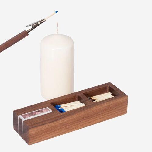 designimdorf Feuerzeuge Set Box Nuss