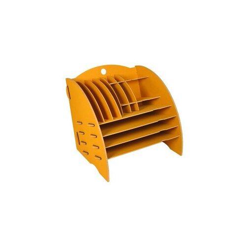 Werkhaus GmbH Schreibtisch Organizer Ordnungssystem Ablagebox Büro Holz 30 x 32 Cm Ver. Farben gelb