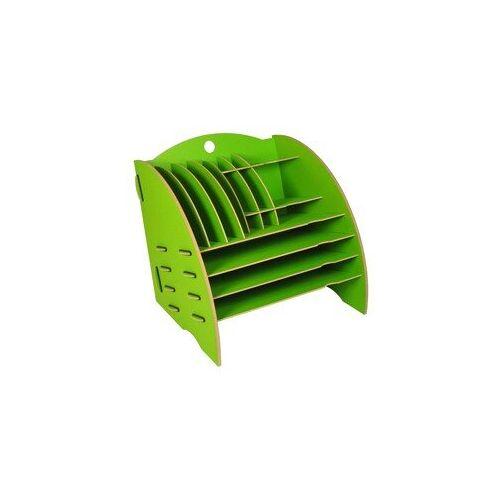 Werkhaus GmbH Schreibtisch Organizer Ordnungssystem Ablagebox Büro Holz 30 x 32 Cm Ver. Farben grün