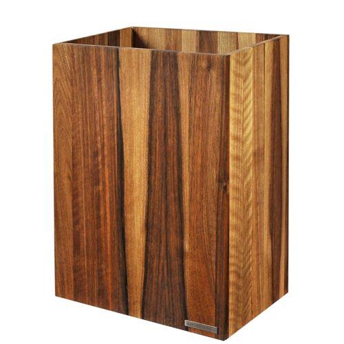 NATUREHOME Papierkorb Classic Nussbaum-holz Natur Geölt 20 x 30 x 35 Cm beige