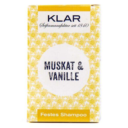 Klar Seifen Klars Festes Haarshampoo Muskat Vanille vanille