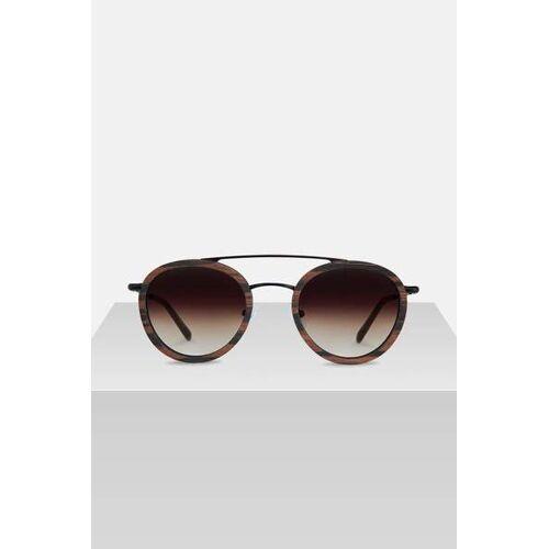 Kerbholz Sonnenbrille Aus Holz 'Berthold' dunkles walnussholz doppelsteg