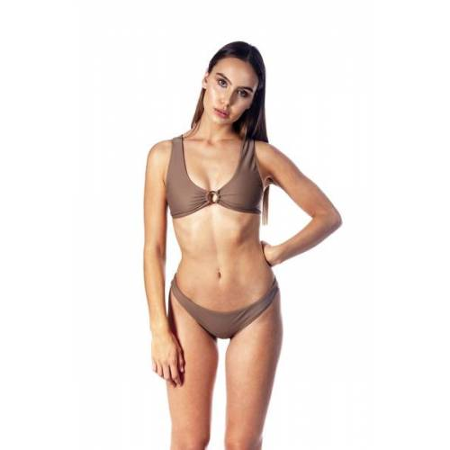 LANASIA Bikini Top Mit Goldenem Ring sand S