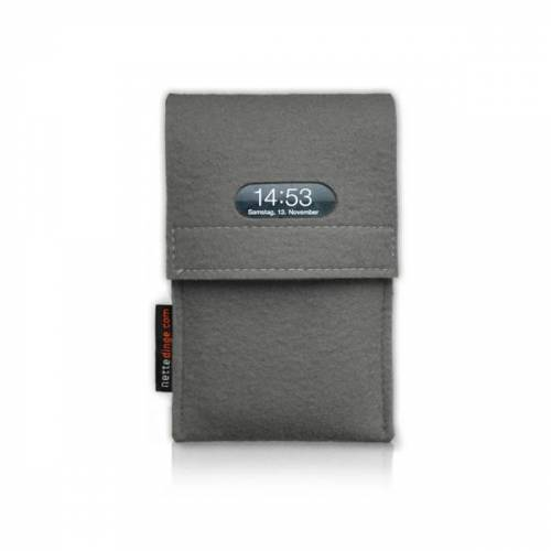 nettedinge Chargecase Handyladetasche grau XL