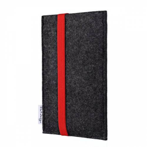 flat.design Handyhülle Coimbra Für Samsung Galaxy S-serie - Vegan - Filz Tasche rot galaxy s10lite