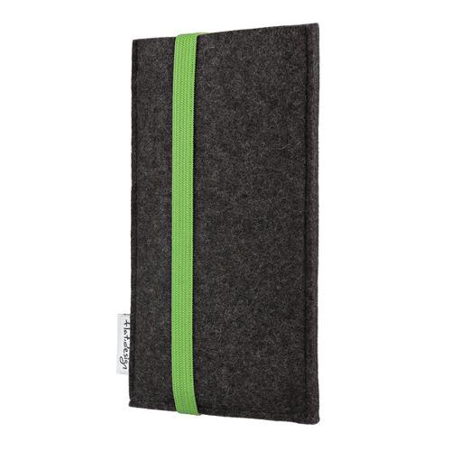 flat.design Handyhülle Coimbra Für Samsung Galaxy S-serie - Vegan - Filz Tasche grün galaxy s10lite