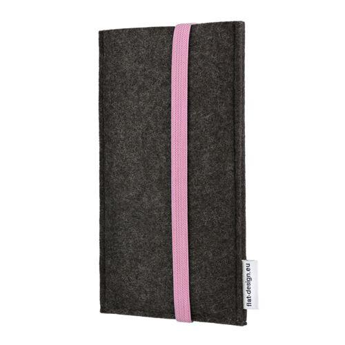 flat.design Handyhülle Coimbra Für Samsung Galaxy S-serie - Vegan - Filz Tasche rosa galaxy s10lite