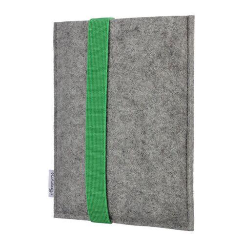 flat.design E-book Reader Hülle Lagoa Für Kindle - 100 % Wollfilz - Hellgrau grün kindle kindle