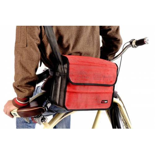 Feuerwear Scott 17 Laptoptasche Umhängetasche Notebook - Tasche rot