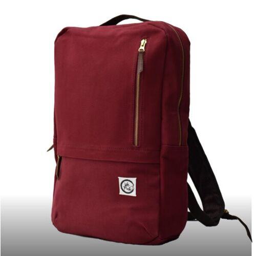 WePack Webag L - Nachhaltiger Laptop-rucksack red hibiscus (weinrot)
