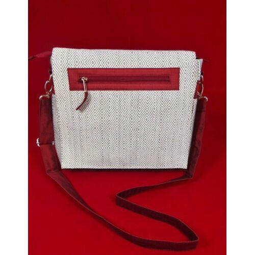 Schönes aus Indochina Umschlagtasche Aus Baumwolle Schwarzweiß Gemustert rot