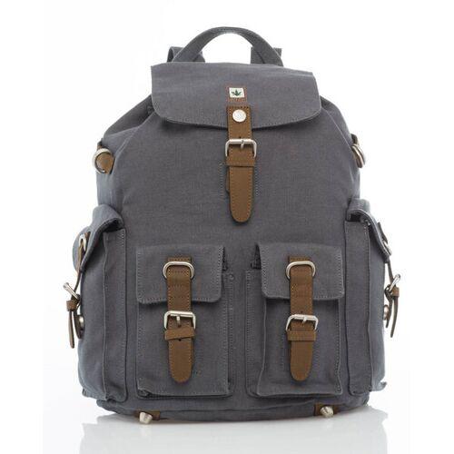 Pure Rucksack Mit 3 Außentaschen grey