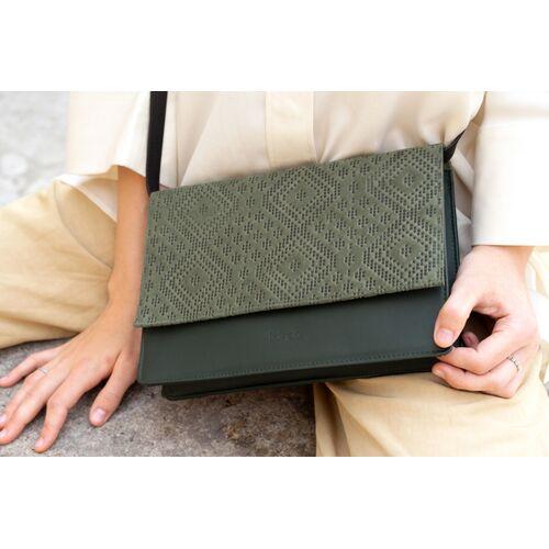 frisch Beutel Handtasche // Umhängetasche dunkelgrün