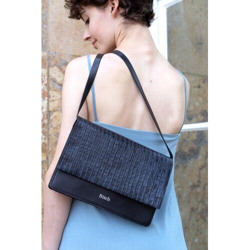 frisch Beutel Handtasche // Umhängetasche blauschwarz