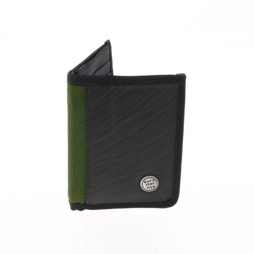 MoreThanHip Herren Brieftasche Aus Recyceltem Lkw Schlauch - Doekoe - 4 Farben armee grün