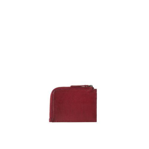 O MY BAG Geldbörse Leder - Coin Purse weinrot (ruby)