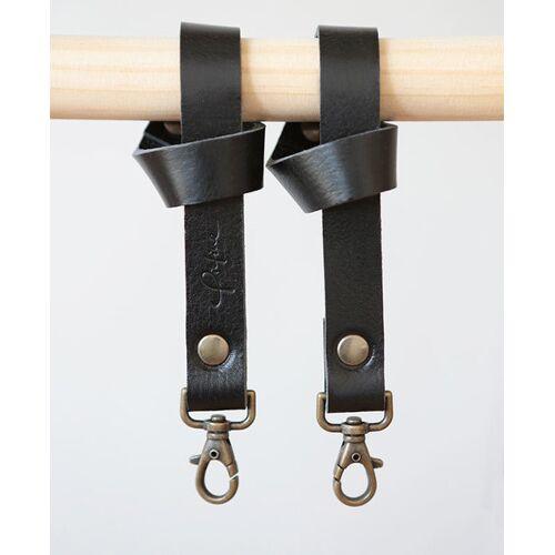 Pikfine Leder Taschenhalterung Für Kinderwagen & Buggy // 3 Farben schwarz