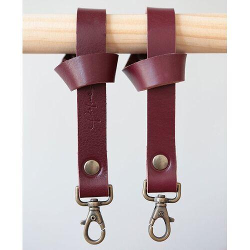 Pikfine Leder Taschenhalterung Für Kinderwagen & Buggy // 3 Farben marsala