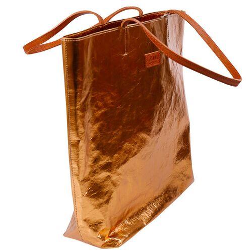 Uashmama Italienische Handtasche/shopper Tosca - Aus Zellulose metallo napoli