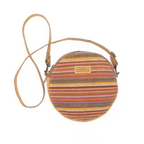"""Woven Damen Tasche Umhängetasche Rundtasche """"Woven Lea Round Side Bag"""" Multicolor Rund"""