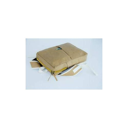 BY COPALA Kraft Paper : Rucksack Aus Nachhaltigem Kraft Papier. Lederoptik.