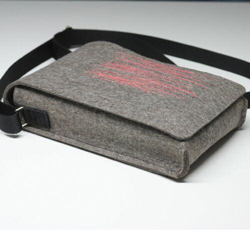 tuchmacherin - handgewebtes design + filz Umhängetasche Aus Filz - Filztasche Zoe