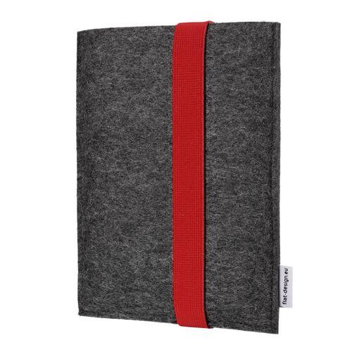 flat.design E-book Reader Hülle Lagoa Für Kindle - Veganer Filz - Anthrazit rot kindle kindle
