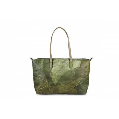 "BELEAF Tasche ""Shop Leaf"" Aus Blattleder Vegan leaf green"