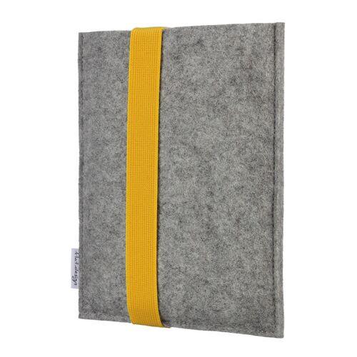 flat.design E-book Reader Hülle Lagoa Für Kindle - 100 % Wollfilz - Hellgrau gelb kindle kindle