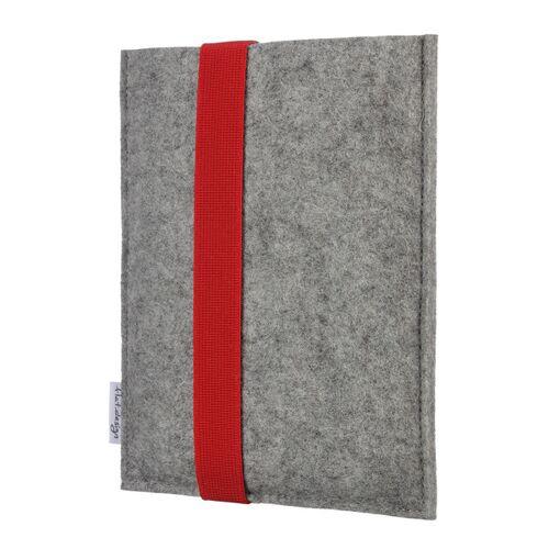 flat.design E-book Reader Hülle Lagoa Für Kindle - 100 % Wollfilz - Hellgrau rot kindle kindle