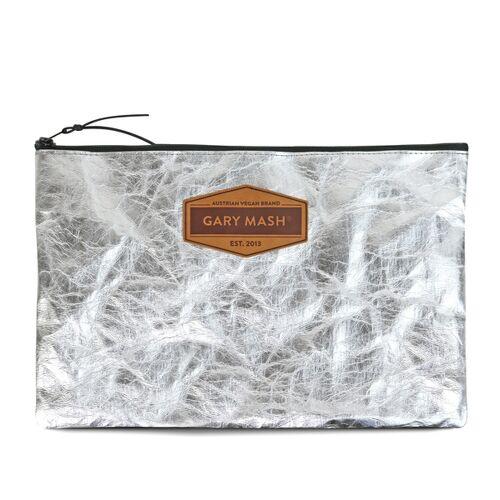Gary Mash Snappap Clutch Handtasche Silber silber