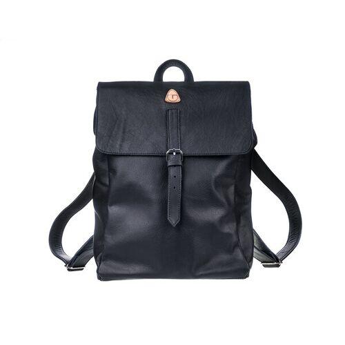 Ritagli di G Damen Leder Laptop Rucksack Alexa Für Studium Oder Arbeit - 100% Made In Italy schwarz