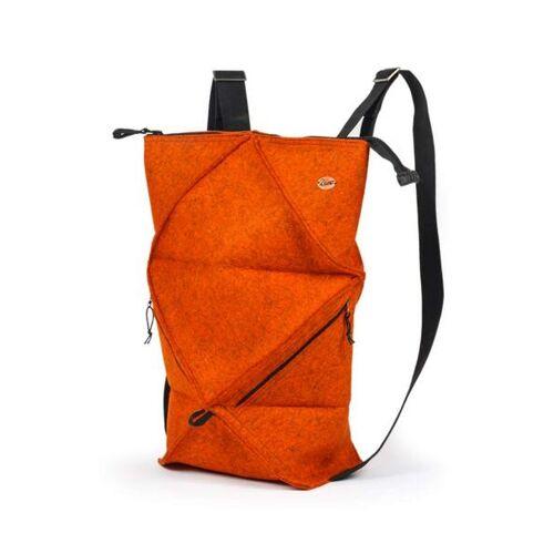 WoolFit Origami Rucksack - Faltbarer Filzrucksack Aus 100% Wolle orange